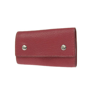HERMES Hermes Shable Serie Etui Kle 6 consecutive key case red series Rouge Garances □ R stamped [20181031]