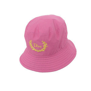 Christian Dior GOLF Golf Hat Vintage Canvas Pink 58 Sport [20181116]