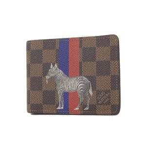 ルイ・ヴィトン(Louis Vuitton) LOUIS VUITTONルイヴィトン ダミエ サバンナ ポルトフォイユミュルティプル チャップマンブラザーズ 二つ折り財布 N63343 [20190125]