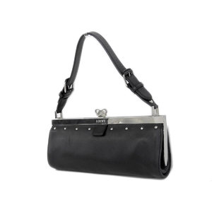 LOEWE Loewe Studs Gamaguchi One-shoulder Bag Vintage Anagram Black Hand Party