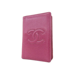 CHANEL Chanel Koko Mark Card Case Business Holder Caviar Skin Pink 6th [20181109]