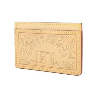 LOUIS VUITTON Louis Vuitton Nume Leather Card Case Pass Trunk Embossed LA2166 [20181018]