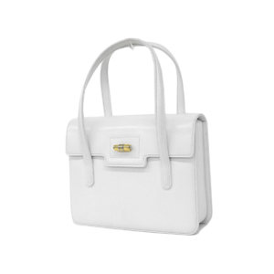 GUCCI Gucci Old Handbag Vintage Turn Lock Leather White [20181123]