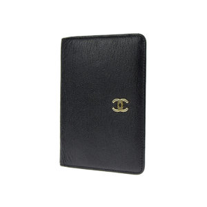CHANEL Chanel Koko Mark Card Case Business Holder Leather Black Gold Hardware Pass 6th [20181208]