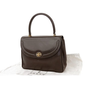 GUCCI Gucci interlocking vintage handbag turnlock brown [20181026a]