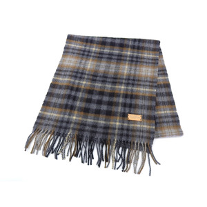 LOUIS VUITTON Louis Vuitton tartan scarf Scarf shawl cashmere wool gray [20190131]