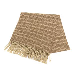FENDI Fendi Zucca Pattern Wool 100% Scarf Fringe Brown [20181031]