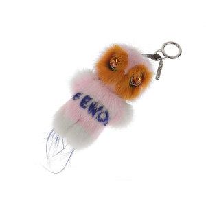 FENDI Firdo Pirro bag Bugs Monster Charm Keychain Mink Fur Pink Blue [20190207]