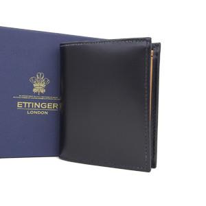 エッティンガー(Ettinger) ETTINGER エッティンガー レザー 二つ折り財布 ウォレット 黒 ブラック [20190207]