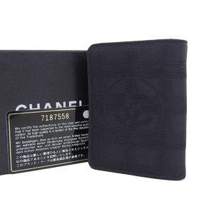 シャネル(Chanel) CHANEL シャネル ニュートラベルライン コンパクト 三つ折り財布 ナイロンジャガード 黒 ブラック ココマーク 7番台 [20181116]