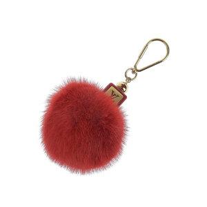 LOUIS VUITTON Louis Vuitton Fluffy bag charm mink fur red keychain bonbon M67313 [20190207]