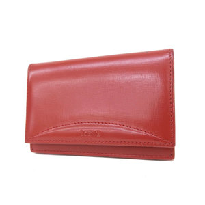 LOEWE Loewe Leather Card Case Business Holder Anagram Red [20181109]