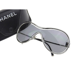 シャネル(Chanel) CHANEL シャネル ココマーク サングラス アイウェア 黒 ブラック 銀 シルバー 16516 94305 [20190125]