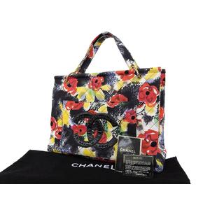 シャネル(Chanel) CHANEL シャネル デカココマーク カメリア マトラッセステッチ コットントートバッグ ハンド ショルダー マルチカラー [20181102]