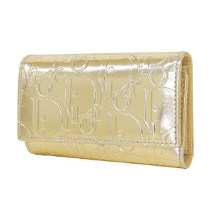 Christian Dior Trotter 6 Series Key Case Patent Leather Gold [20190123]