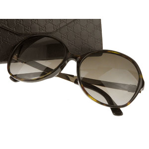 GUCCI Gucci Sherry Line Asian Fit Sunglasses Eyewear Brown Gold GG 3796 / F S ANTHA [20181220]