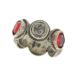 GUCCI Gucci colored stone ring silver red 21 [20190125]