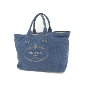 PRADA Prada Kanapa Tote Bag Denim Blue Men's Ladies Unisex Hand Shoulder [20190130]