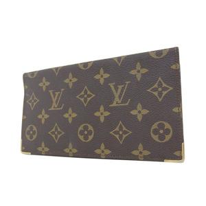 ルイ・ヴィトン(Louis Vuitton) LOUIS VUITTON ルイヴィトン モノグラム 二つ折り札入れ 茶 ブラウン 長財布 カードケース [20190207]