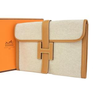 HERMES Hermes Jiji PM Second Bag Toruash Kushuber Tea Natural ○ O [20190208]