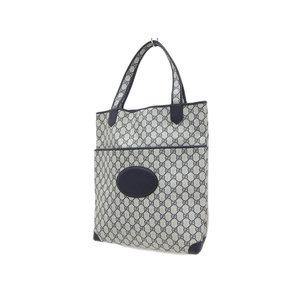 GUCCI Gucci GG Tote Bag Old Vintage Agate Navy Shoulder Hand [20181123]