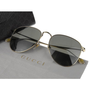 GUCCI Gucci Teardrop Sunglasses Eyewear GG 2256 / S Black Gold 55 □ 17 145 [20190207]