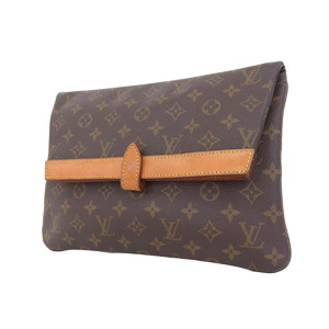 LOUIS VUITTON Louis Vuitton Pochette Plant Second Bag Monogram Vintage Brown Clutch [20190207]