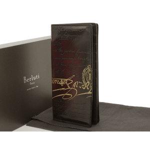 Berluti Berrutti SANTAL Sant's fold long wallet Golden Patine red tea brown gold [20190213]