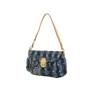 ルイ・ヴィトン(Louis Vuitton) LOUIS VUITTON ルイヴィトン ミニプリーティ レイエ ショルダーバッグ モノグラムデニム ストライプ 青 ブルー M95333 [20190208]
