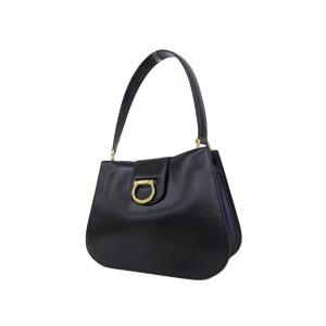 CELINE Celine Gancini Leather Shoulder Bag Vintage Black [20190131]