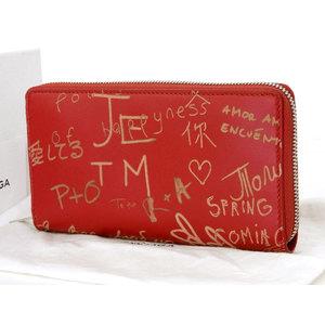 BALENCIA GA Balenciaga Limited Valentine's Day Essential Round Zipper Long Wallet Leather Red VALENTINE [20190215]