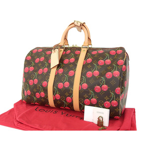 LOUIS VUITTON Louis Vuitton Kiepol 45 Boston bag Monogram Cherry Takashi Murakami travel M95011 [20181228]