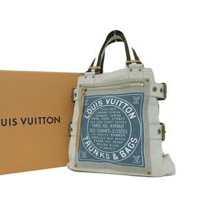 LOUIS VUITTON Louis Vuitton glove shopper MM tote bag Cruise collection cream light blue M95114 [20190215]