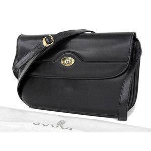 GUCCI Gucci interlocking 2way shoulder bag vintage old leather black second clutch [20181220]