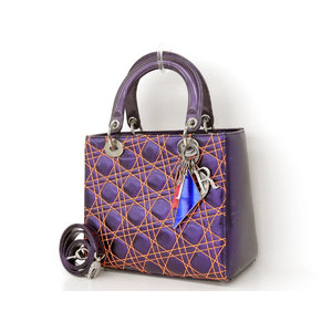 ChristianDior Dior Ansel murray collaboration limited Lady 2way handbag purple shoulder [20190213]