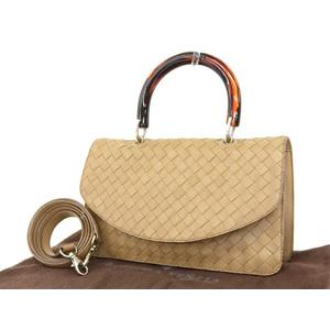 BOTTEGAVENETA Bottega Veneta Intrecherto 2way handbag plastic handle vintage brown shoulder [20181208]