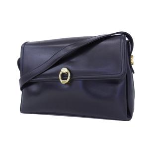 GUCCI Gucci interlocking G shoulder bag vintage old leather black [20181214]