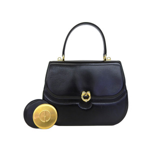 GUCCI Gucci Old Handbag Vintage Leather Black [20181208]