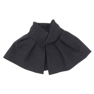 LOUIS VUITTON Louis Vuitton Womens Cape Bolero Wool Charcoal Gray Scarf [20181214]