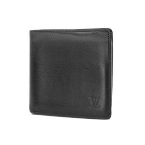 ルイ・ヴィトン(Louis Vuitton) LOUIS VUITTON ルイヴィトン ポルトフォイユ マルコ 二つ折り財布 ノマドライン 黒 ノワール ブラック M85016 [20190215]