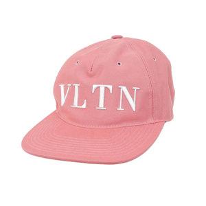 ヴァレンティノ(Valentino) Valentino Garavani ヴァレンティノ ガラヴァーニ VLTN ロゴ キャップ 帽子 コットン ピンク M 57 [20190215]