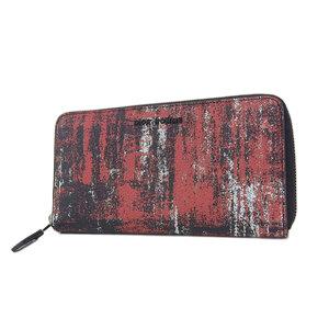 ディオール・オム(Dior Homme) DIOR HOMME ディオールオム レザー ラウンドファスナー 長財布 黒 ブラック 赤 レッド 白 ホワイト [20181208]