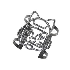 CHANEL Chanel 17S Schuppet Cat Robot Bangle Rhinestone Black Bracelet [20190215]