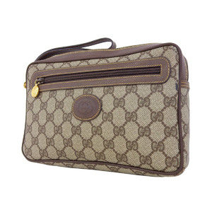GUCCI Gucci GG second bag vintage clutch PVC leather brown [20181130]