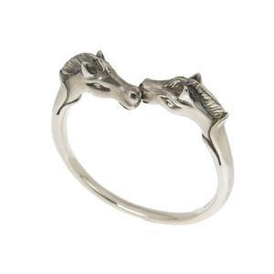 HERMES Hermes Horse Bangle Bracelet Subaru Silver [20181214]