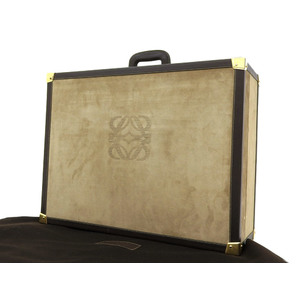 LOEWE Loewe Anagram Trunk Case Travel Suede Vintage Brown Beige Suitcase [20190215]