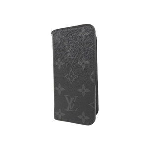 LOUIS VUITTON Louis Vuitton Folio iPhone 7 8 Notebook Type Cover Monogram Eclipse Smartphone Case Eyephone M62640 used [20190308]