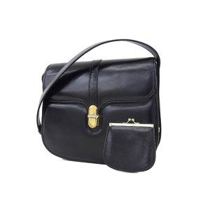 GUCCI Gucci Old Interlocking G Vintage Shoulder Bag Leather Black [20181208]