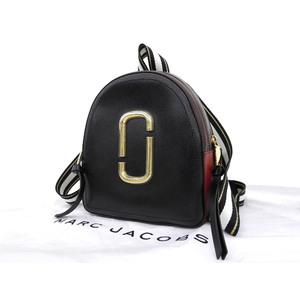 マーク・ジェイコブス(Marc Jacobs) MARC JACOBS マークジェイコブス パックショット リュックサック トリコロール 黒 ブラック ボルドー 赤 バックパック中古  [20190308]