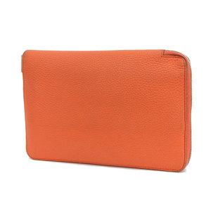 HERMES Hermes Azap Combine Round Fastener Purse Tryon Clemence Orange X-Cured Used